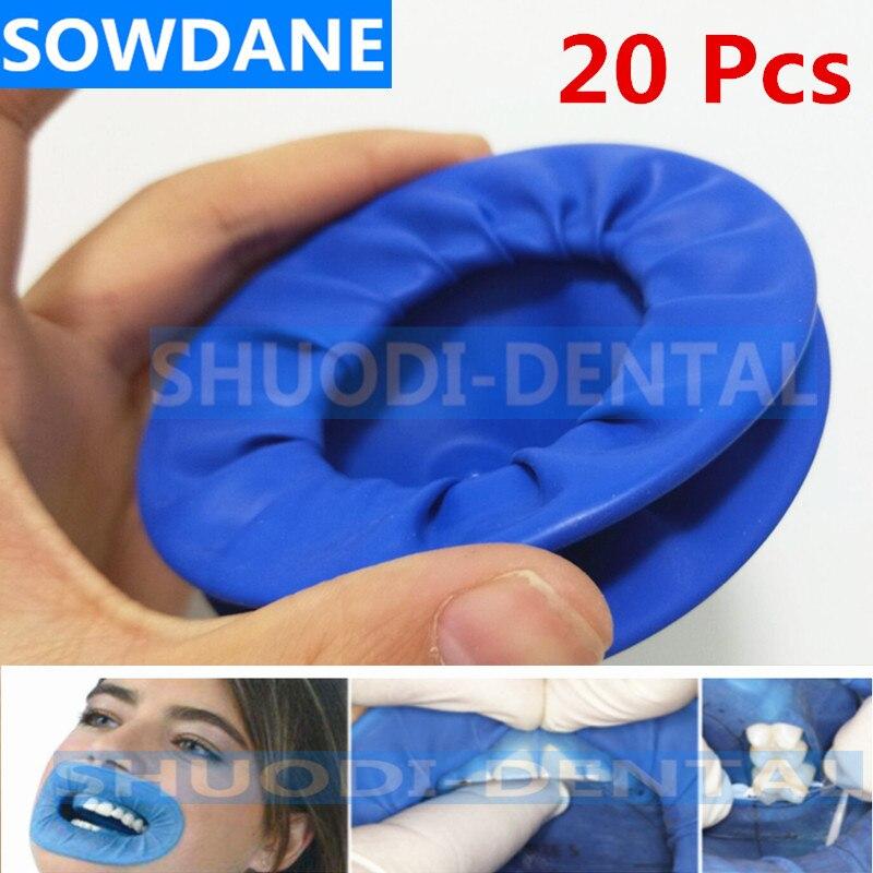 20Pcs Dental Disposable Rubber Sterile Mouth Opener Oral Cheek Expander Retractor Rubber Dam Retractor Mouth Opener Oral Hygiene недорого