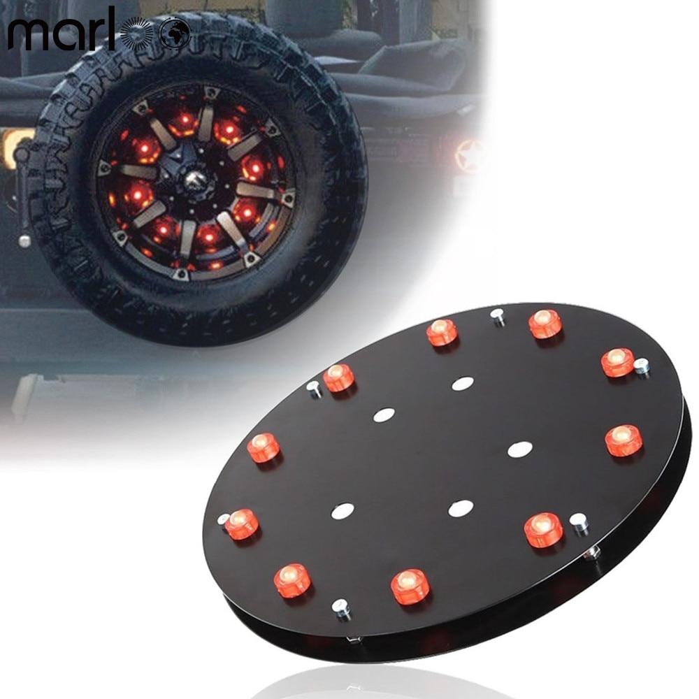 Marloo Spare Tire Brake Lights 3rd Taillight LED for Jeep Wrangler JK JKU Unlimited Rubicon Sahara X Sport 2 Door 4 Door 2007 up