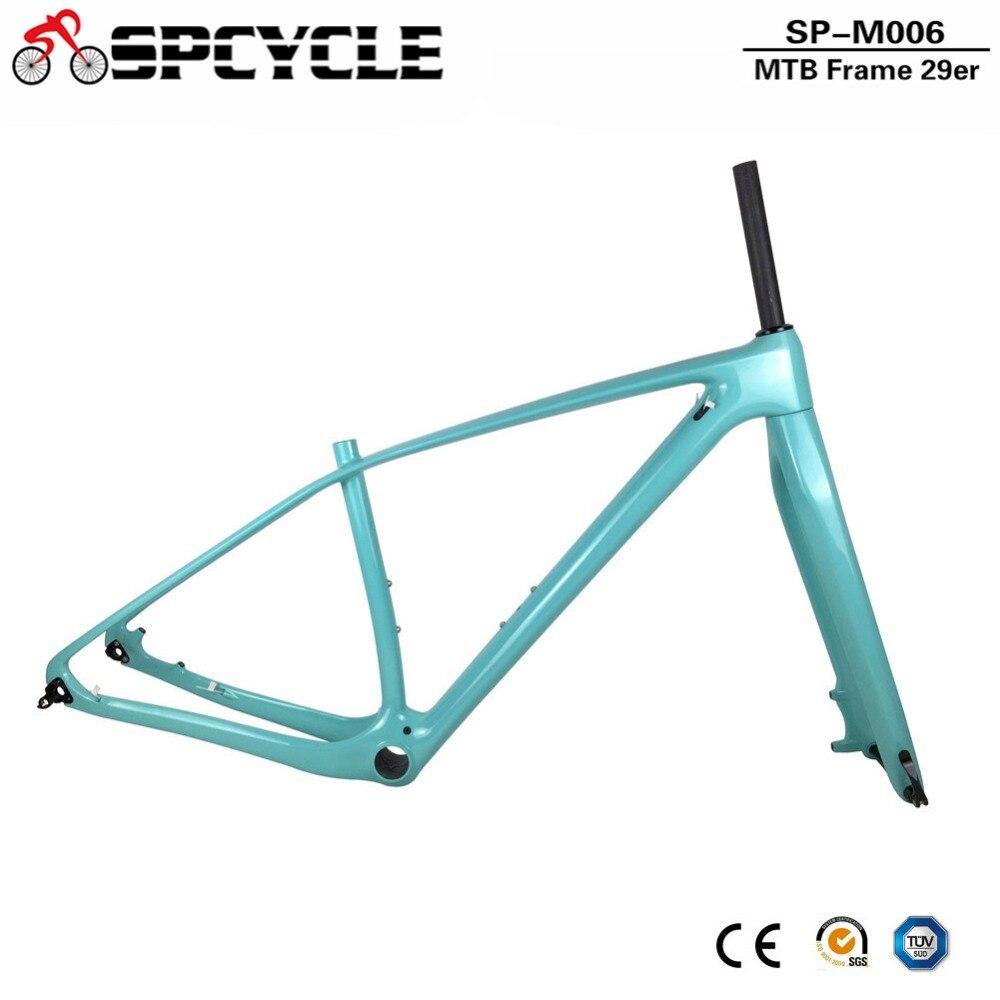 Marco de carbono completo Spcycle T1000 MTB y horquilla 27.5ER 29ER marcos de carbono de bicicleta de montaña con 15*100mm tenedores de eje pasante PF30 auriculares