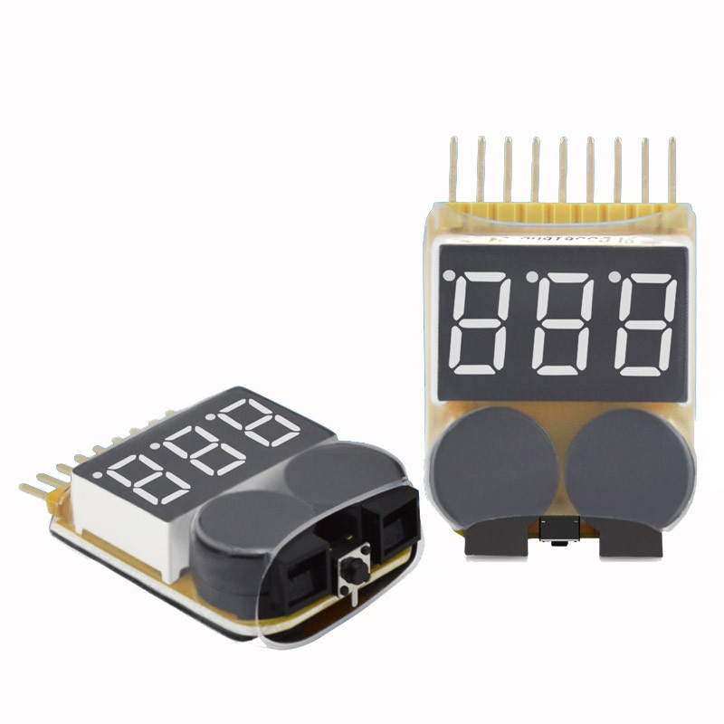 Lipo Battery Low Voltage Tester 1S-8S Buzzer Alarm For RC Toy FPV Racing Drone Spare Parts Rechargea