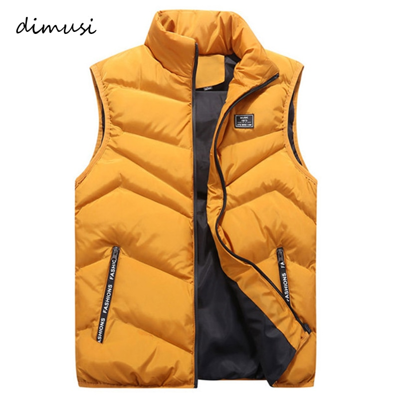 DIMUSI, chaqueta para hombre, chaleco sin mangas, moda de invierno, abrigos casuales para hombre, chaleco acolchado de algodón, chaleco grueso para hombres, 4XL, YA741