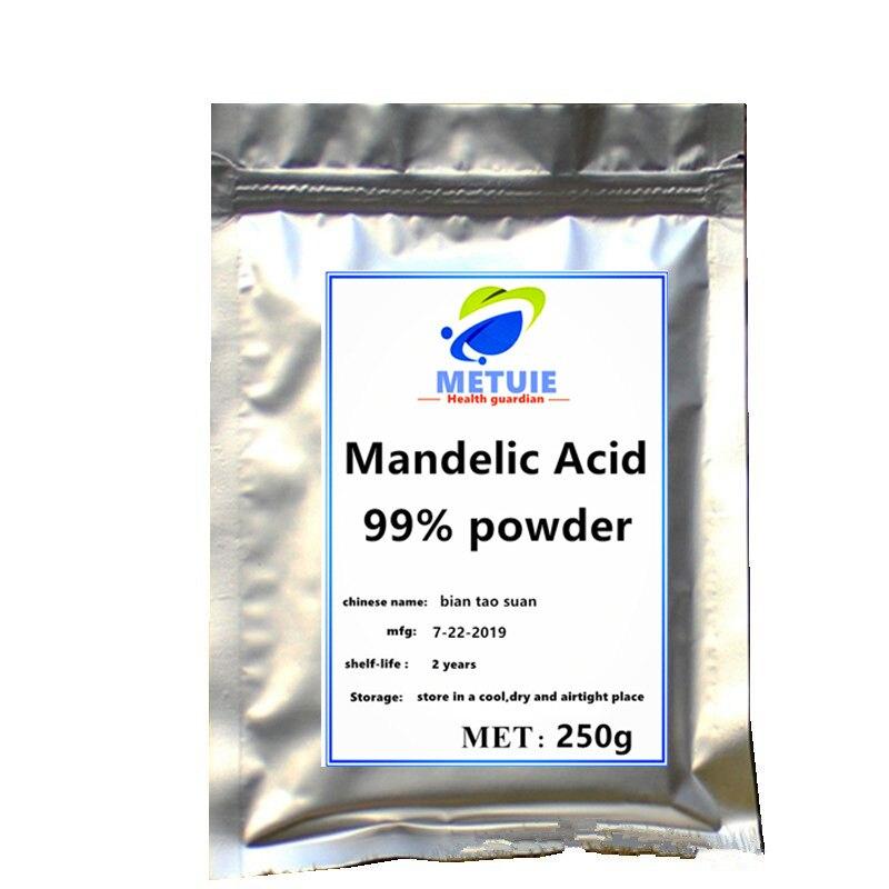 Polvo de ácido manélico al 99% de alta calidad, 1 unidad, suplemento superior para festival, brillo corporal, cosmético, materia prima, lentejuelas para pecas de cara.