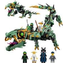 574 adet uyumlu Lepining Ninja Mecha ejderha teknik monte Model oyuncak inşaat blokları kiti DIY eğitici oyuncaklar hediyeler