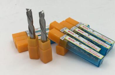 5ピースより高い品質二つのフルートエンドミルdjtol 4*4*17ミリメートル用木材、k200マイクロ超硬ソリッドドリルビットA2FLX417