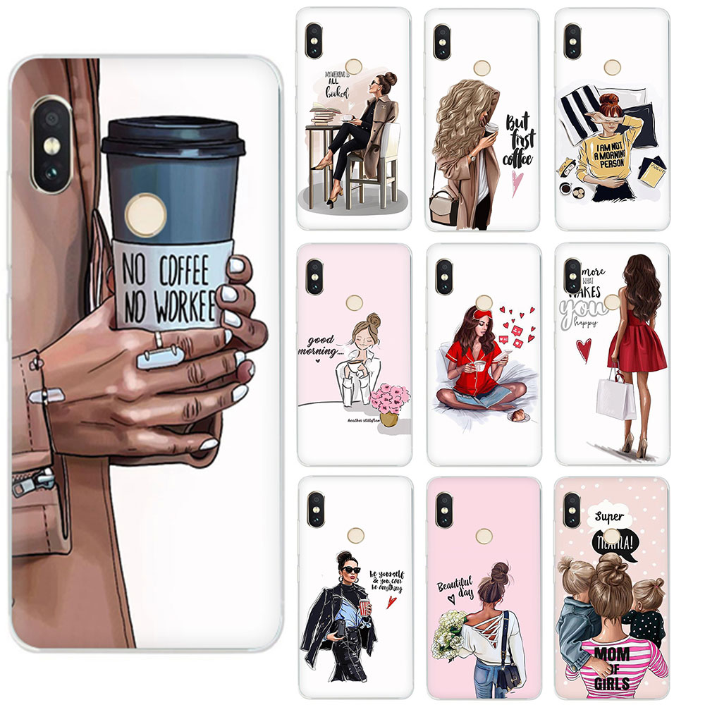 Жесткий чехол для телефона Queen Princess Girl Female boss coffee для Xiaomi Mi MAX 3 9 8 SE 6 5S A2 Lite Mix 2S A1/5X A2/6X F1 9T CC9e
