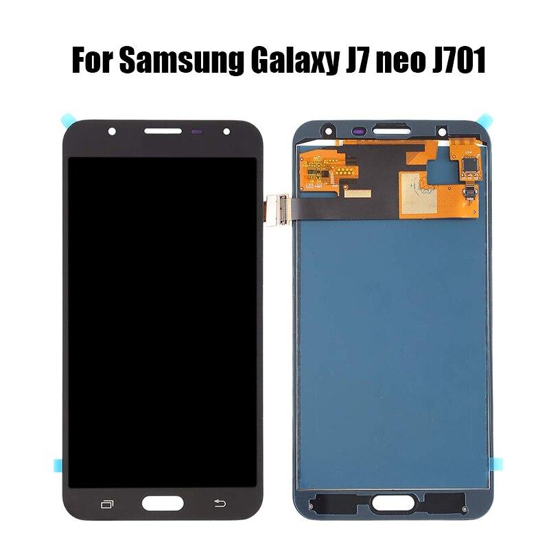 Para Samsung Galaxy J7 neo J701 pantalla LCD MONTAJE DE digitalizador con pantalla táctil para j701 J701F J701M J701MT pantalla LCD