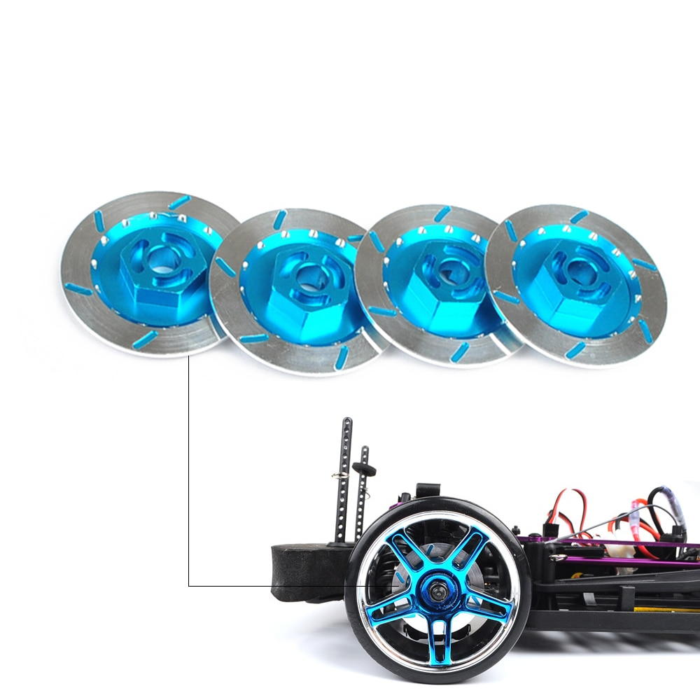 4 шт., алюминиевый сплав, тормозной диск, металлический корпус, 12 мм, шестигранная гайка для RC 1/10 моделей, автозапчасти HSP 94123/122/103 D4 CS 12mm hex metal nutshsp parts   АлиЭкспресс