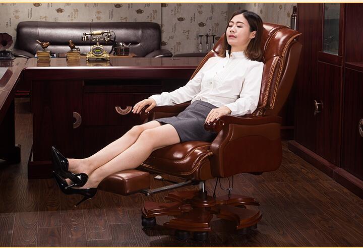Фото - Домашнее кожаное кресло руководителя офисное кресло массажное кресло Кресло компьютерное кресло кожаное кресло из цельного дерева. кресло