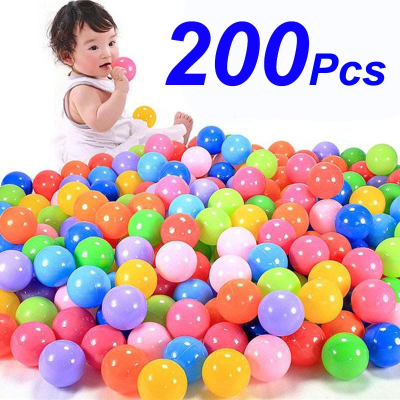 200 unids/bolsa bola colorida respetuosa con el medio ambiente Bola de plástico suave océano divertido bebé chico natación Pit Toy agua piscina ola de mar bola regalos de navidad
