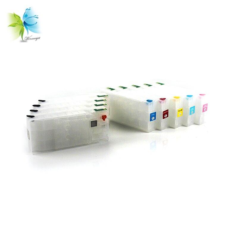 Cartucho de tinta recargable vacío Winnerjet 160ml sin Chip para impresora Epson SureColor P800