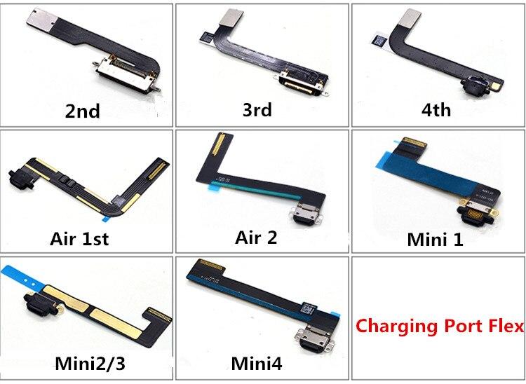 Новое зарядное устройство, порт для зарядки, док-станция, usb-разъем, гибкий кабель для передачи данных для iPad 2 3 4 5 Air 2 6 Mini 1 2 3 4, запасная часть ленты