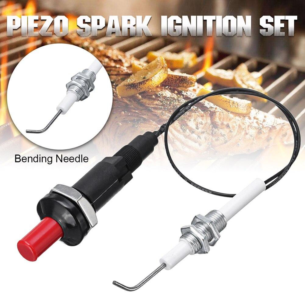 Universal 30cm Piezo Funken Zündung Set für Heizung Heizkörper Gas Grill Herd BBQ E2S
