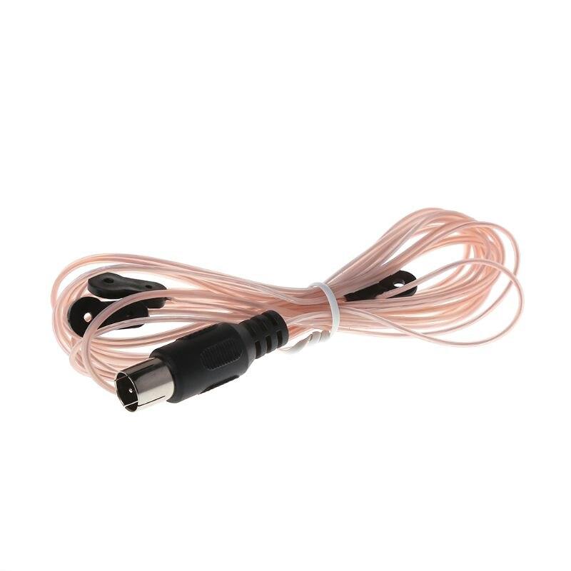 Antena de Radio Dipole antena FM receptor de señal conector macho adaptador de TV sintonizador amplificador de tarjeta casa interior