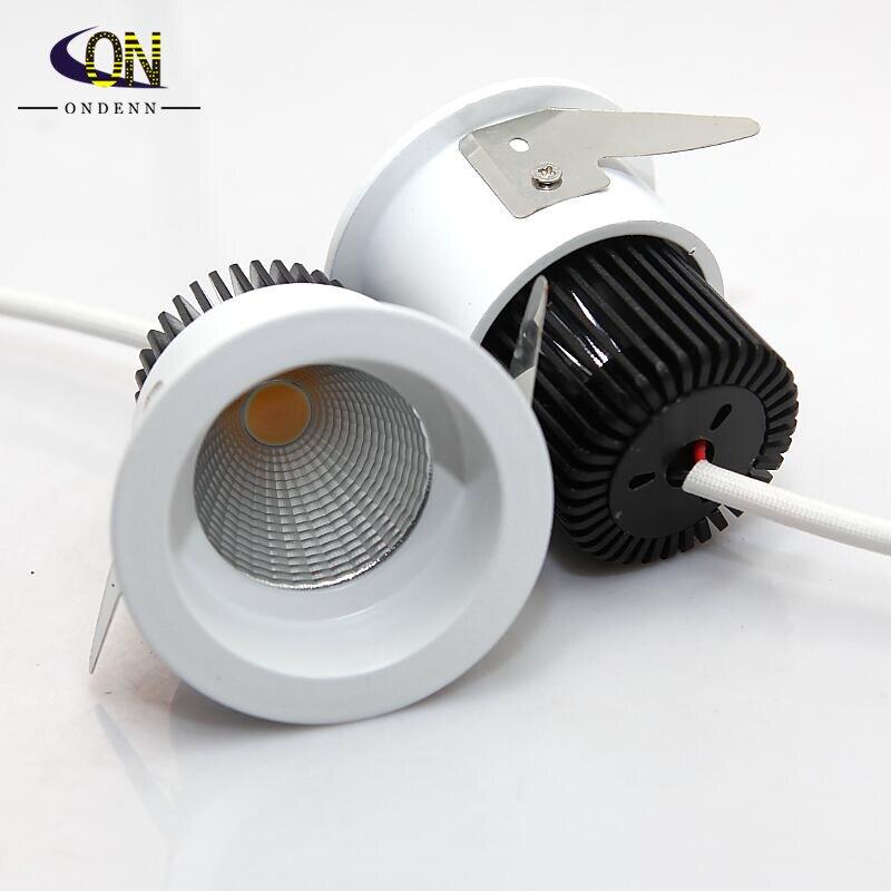 Luz LED descendente regulable 10W COB foco de Techo Luz superbrillante Plafond Down luz cálida/fría blanca
