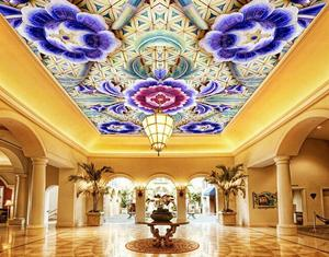 custom photo 3d ceiling murals High-definition jade carving 3d ceiling wallpaper for bathroom ceiling 3d wallpapers