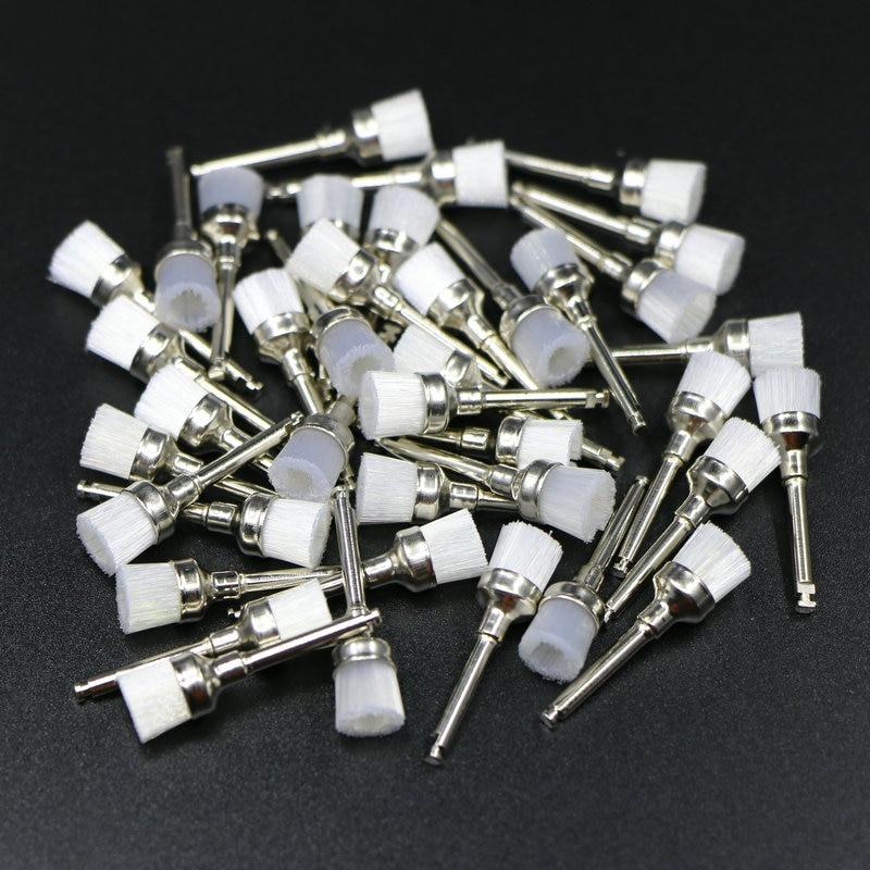 Набор щеток для полировки зубов 100 шт., мягкие нейлоновые зубные щетки с чашей для полировки, стоматологические щетки для лаборатории