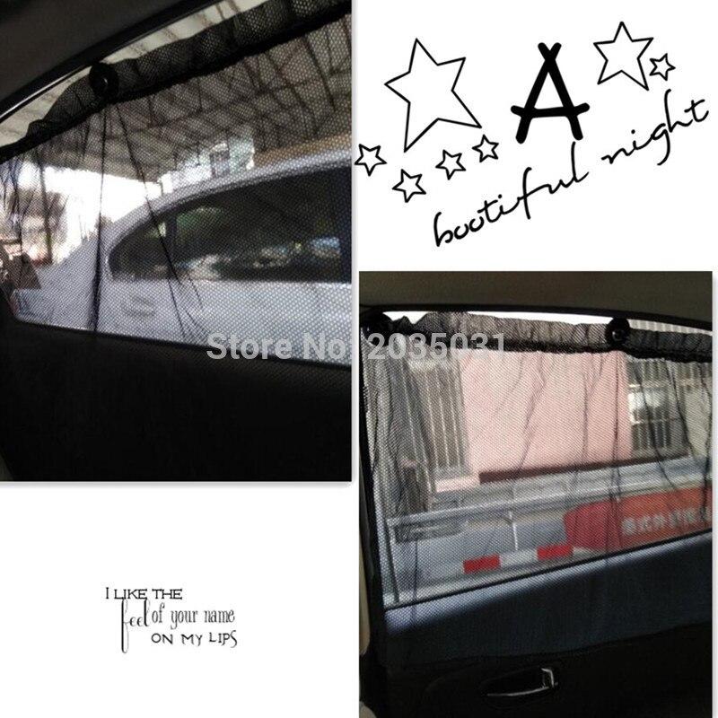 Interior del coche etiqueta engomada de la ventana solar cortinas para renault 2 volvo s90 vauxhall corsa fiat bravo honda cívica passat b5