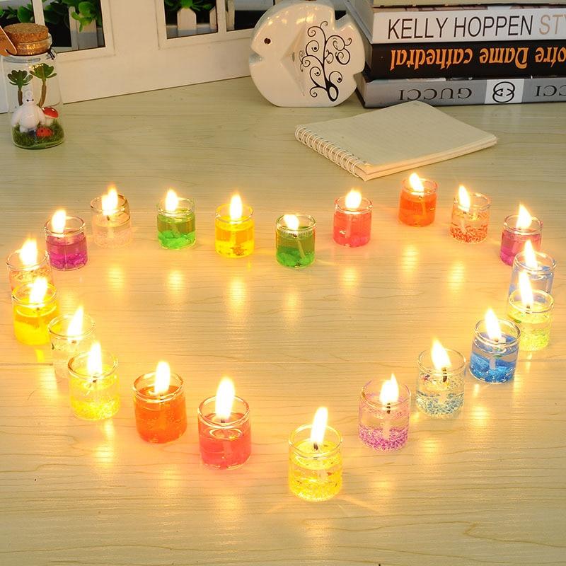 24 шт., стеклянные банки для свечей с пламенем, желтые свечи, светодиодные Чайные свечи для дома, столовой, вечеринки/большого Votive декора, свеч...