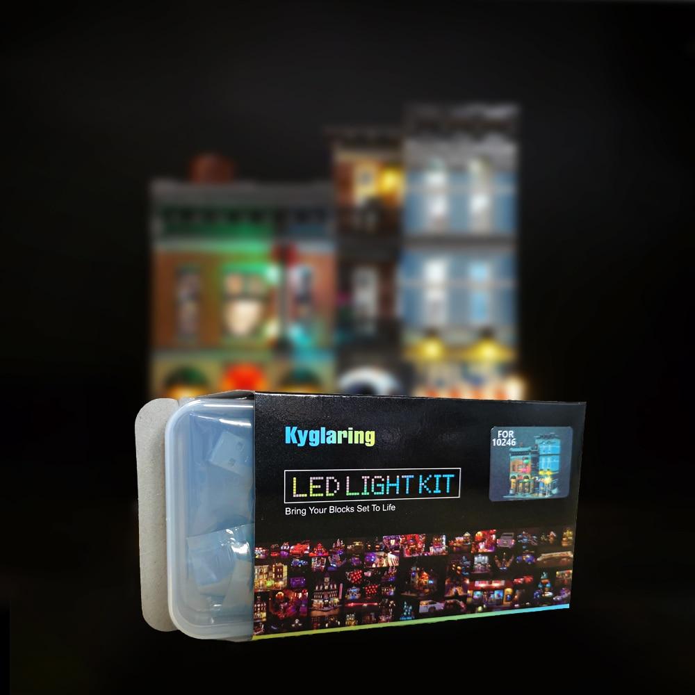 Led light up kit para lego e lepin detetive escritório bloco de construção luz conjunto compatível com 10246 e 15011