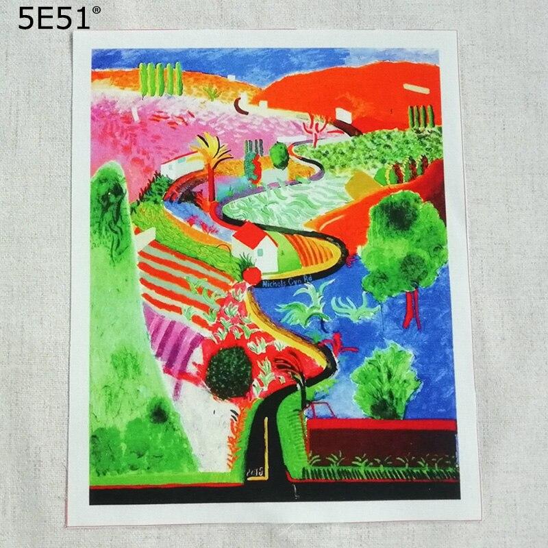 Tela de posicionamiento de pintura decorativa con impresión de paisaje en lienzo de algodón/bolsa de tela Knicks Canyon 20*25cm