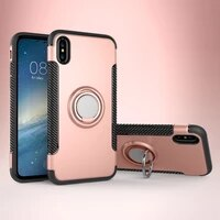 phone case for iphone 7 silicon 7 plus soft fundas capa magnetic ring back cover for iphone x xr 8 7 6 s xs max case funda coque