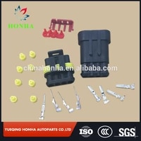 free shipping 600 pcslots dj7041 1 5 1121 tyco 4 pin superseal auto male and female sealed electrical connector