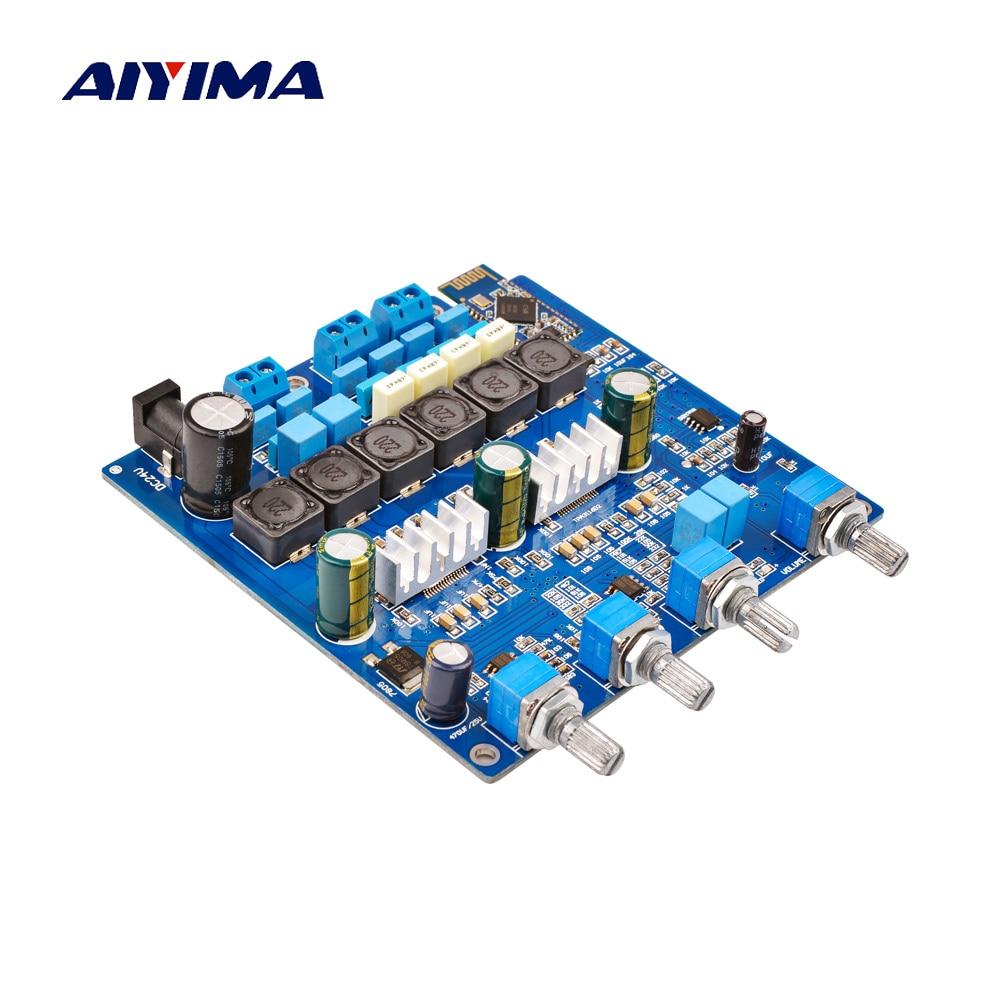 AIYIMA TPA3116 2,1 amplificador de potencia Bluetooth tarjeta de audio 2*50W + 100W amplificador de Subwoofer amplificador de sonido AMP DC24V Home theater
