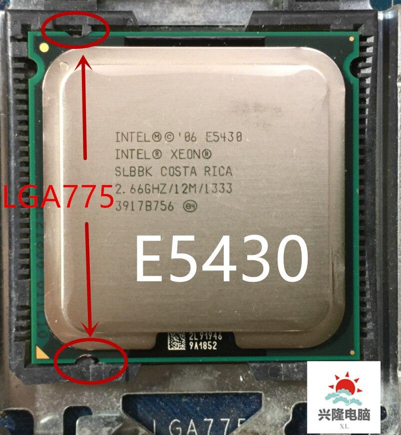 lntel Xeon e5430  E5430 2.66GHz/12M/1333Mhz/CPU equal to LGA775 Core 2 Quad Q9300 CPU,no need adapter,works on LGA775 mainboard
