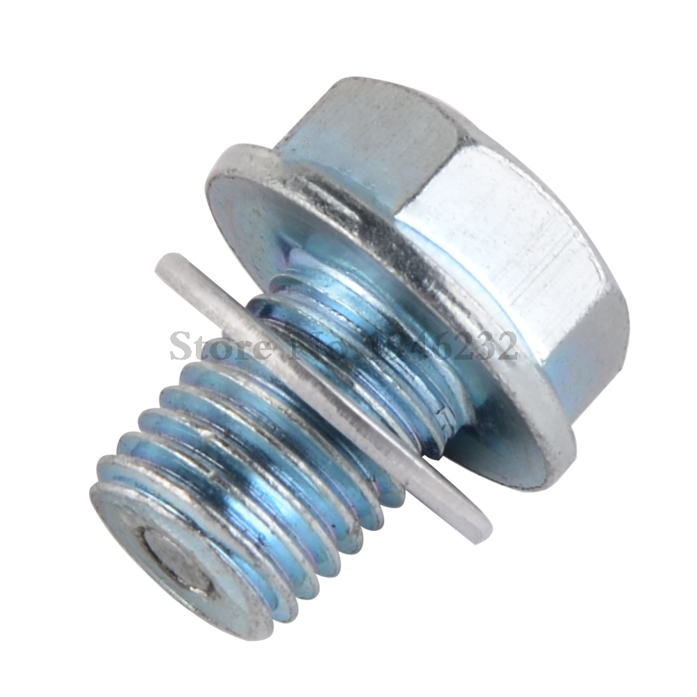 Magnetic Engine Oil Pan Drain Plug Bolt For Honda CR CRF CA CB CL CT SL ST XL 70 100 125 250 500 VTX1300 1800 Magna #92800-12000