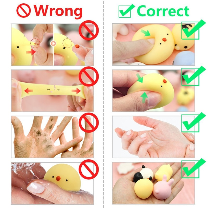 30pcspack Mochi Squishies Squishy Toys Squeeze Random Animals Stress Toy Squishy Cat Squeeze Fun Kids Kawaii Toy enlarge