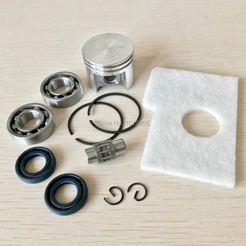 Kit danneaux de goupilles de Piston de 38mm/Kit de joints dhuile de roulement de vilebrequin/Kit de joint pour les pièces de tronçonneuse STIHL 018 MS180