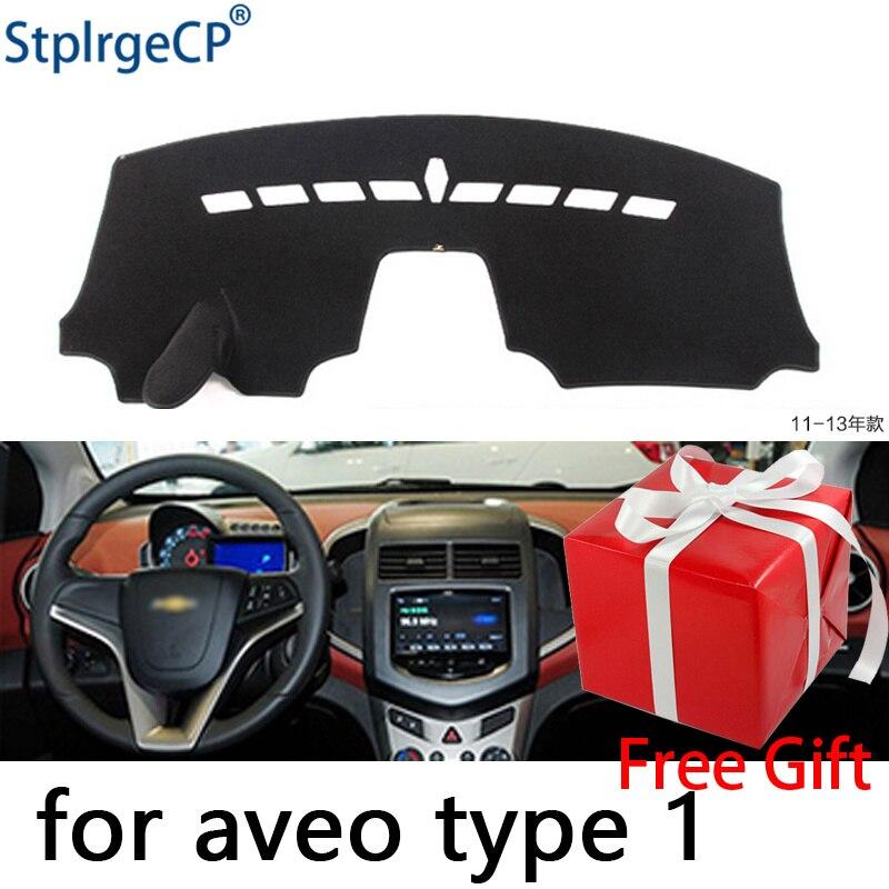 Almohadilla protectora para salpicadero Chevrolet Aveo Sonic 2012-2016, accesorios de estilo de coche