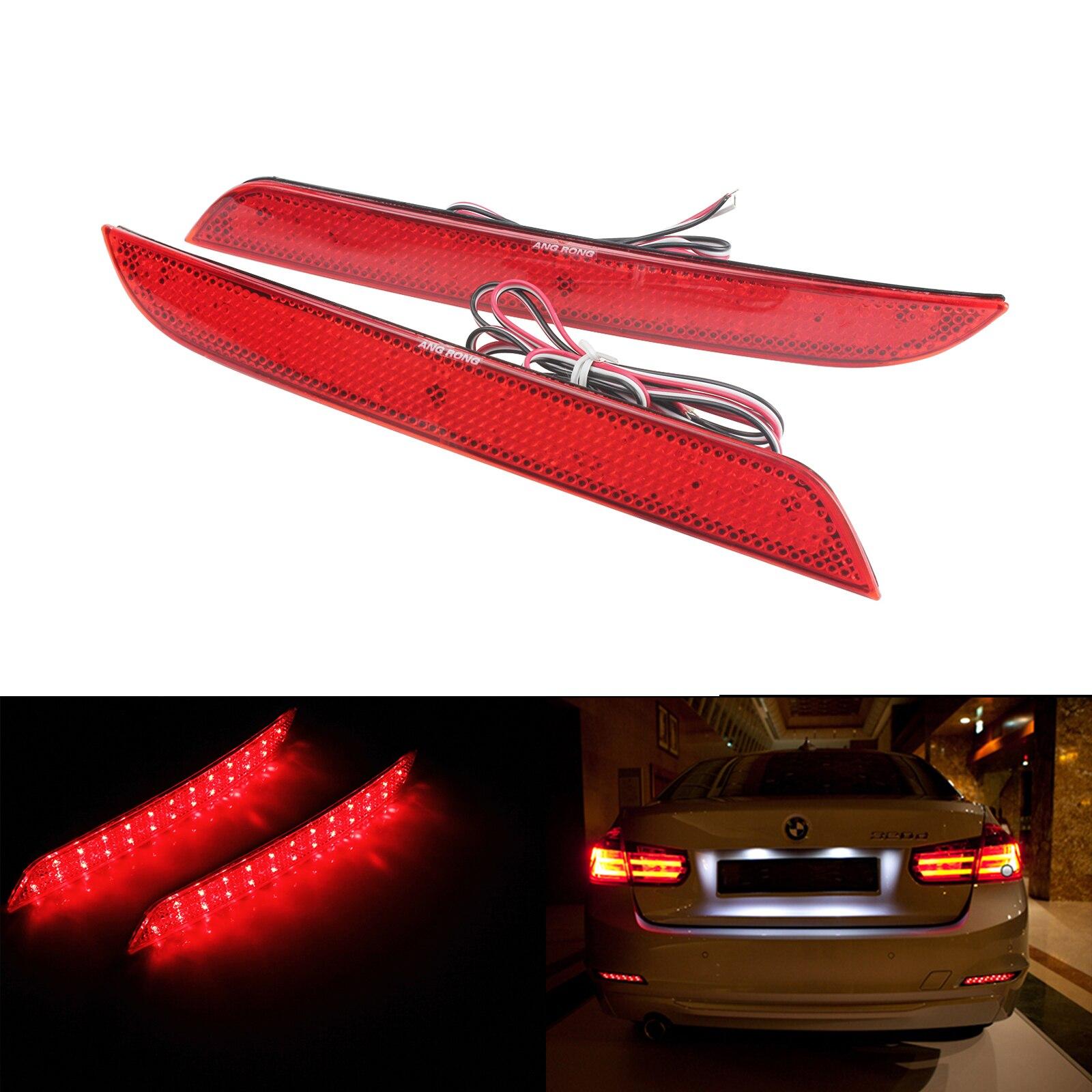 ANGRONG LED reflector de parachoques trasero Freno de cola de luces para BMW F30 F31 F32 F33 F34 F35 F36