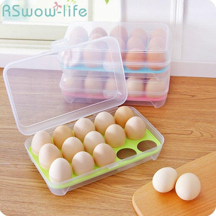 15 клетчатый PP ящик для хранения яиц, открытый портативный ящик для яиц для пикника, кухонный лоток для яиц, бытовые кухонные принадлежности
