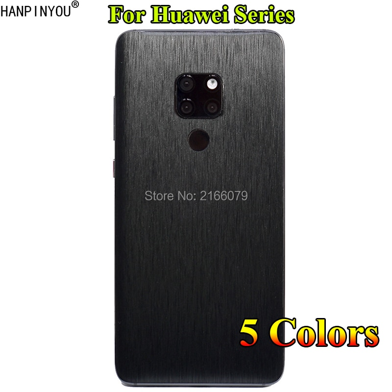 Para Huawei Mate 20 X 20X 30 P20 Nova 3i P30 Pro Lite de vuelta de Metal cepillado etiqueta piel protectora del teléfono de dibujo de alambre de película adhesiva