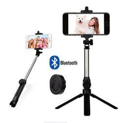 Universal retrátil 3 em 1 bluetooth selfie vara tripé extensível monopé para iphone xr x 7 6s plus para samsung para huawei