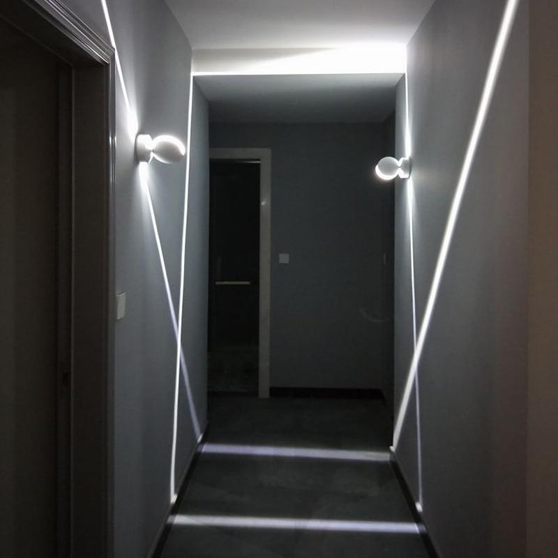 مصباح حائط led داخلي RGB ، مع حامل حائط ، تأثير المرحلة ، الممر ، غرفة النوم ، الإضاءة الزخرفية ، 85-265 فولت