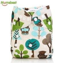 Mumsbest-couches en tissu pour bébé   10 pièces, couches lavables, réutilisables, imperméables, combinaison pour bébés de 0 à 2 ans et de 3 à 15kg