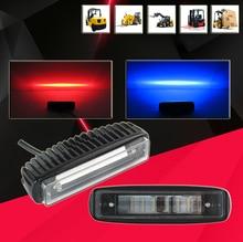2 шт., 30 Вт, синий, красный, Zona, сигнальная лампа для зоны риска, Складская вилка, вилочный погрузчик, Индикатор безопасности, 12 В, 24 В, 48 В, 60 в