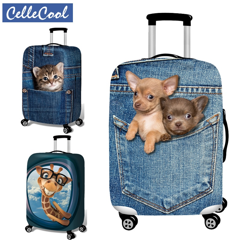 3D printingTravel Luggage Cover Luggage Protector Suitcase Protective Covers for Trolley Case Trunk Case Apply to 18-30 inch