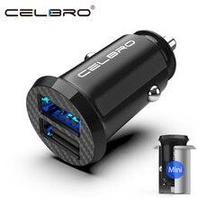 Cargador USB de coche de actualización Mini adaptador de cargador de coche USB 15W para teléfono móvil Apple iPhone Carga de coche cargador de coche USB Dual 2 puertos