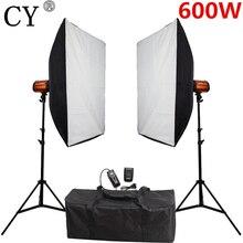 CY Studio de photographie boîte souple Flash Kits déclairage 600ws lumière stroboscopique + Softbox support ensemble accessoires de Studio Photo Godox 300SD