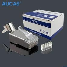 50 PCS/lot CAT7 RJ45 connecteur bouclier FTP RJ45 prise 8P8C réseau CAT7 connecteur modulaire pour câble Ethernet