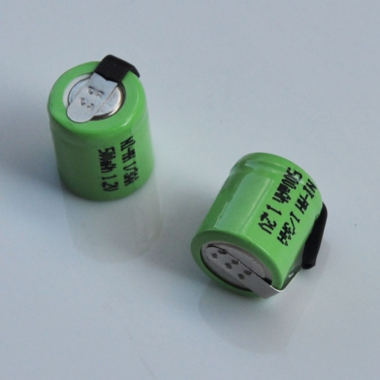 2-10 шт. 1.2В 1/3AA Ni-MH аккумуляторная батарея 500 мАч 1/3 AA nimh ячейка с вкладками для сварки солнечного света