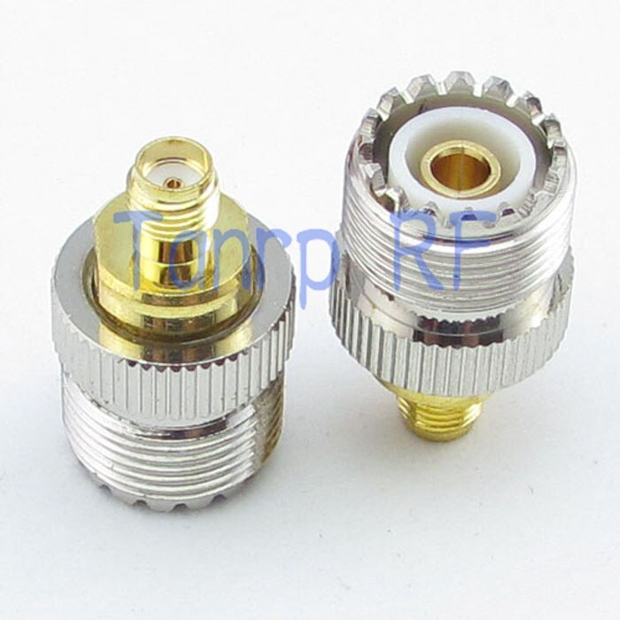 الجملة 10 قطعة/الوحدة UHF أنثى جاك إلى SMA الإناث جاك مستقيم RF موصل محوري محول كابل