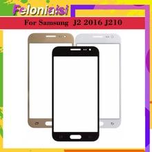 Для Samsung Galaxy J2 2016 J210 J210F J210M J210Y J210FN Сенсорный экран стекло передней панели объектива Внешний ЖК-дисплей Стекло
