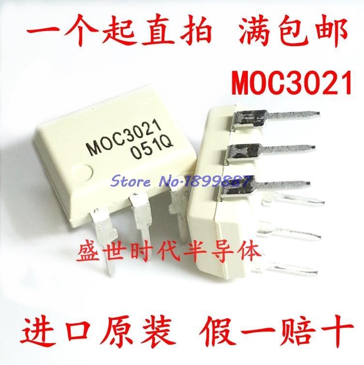 10 pçs/lote MOC3021 3021 DIP-6 Em Estoque