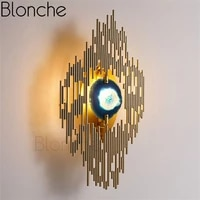 modern led wall lamp gold peacock tail wall sconces for living room restaurant bedroom home decor lighting luxury metal fixtures