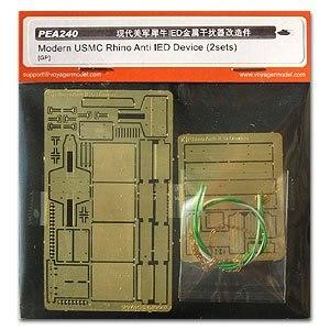 """KNL HOBBY modelo Voyager PEA240 del Ejército """"rinoceronte"""" coche bomba bloqueadores de señal de metal grabado piezas (2 sets)"""