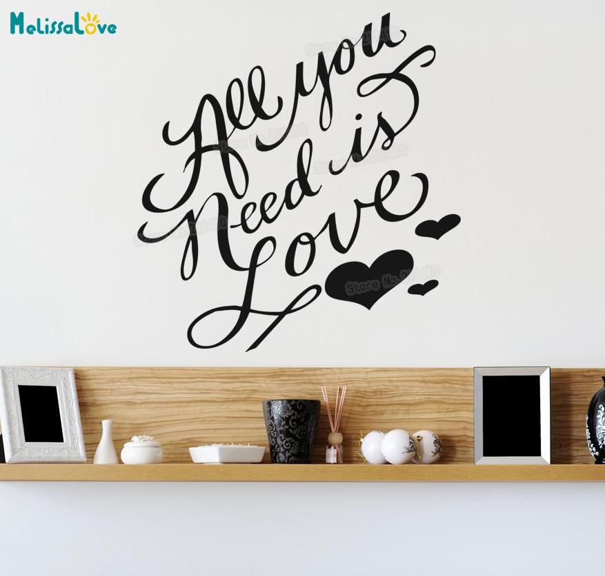 Etiqueta engomada de vinilo de la pared todo lo que necesitas es...